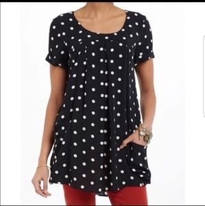 Anthropologie Holding Horses polka dot tunic